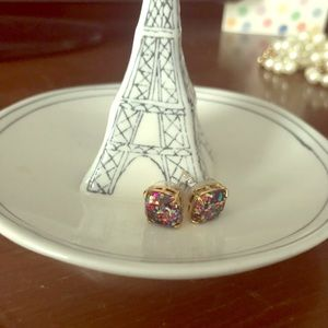 Small colorful stud gumdrop kate spade earrings
